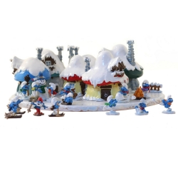 Collectible Scene Pixi The village of the Smurfs under the snow 6426 (2018)
