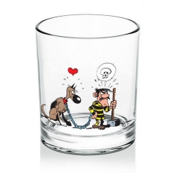 Whiskey Glass Lucky Luke (Dalton & Rantanplan)