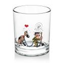 Whiskey Glass Lucky Luke (Dalton & Rantanplan)