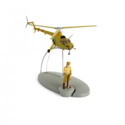 Figurine de collection Tintin L'hélicoptère de l'armée C04 Nº22 29542 (2014)