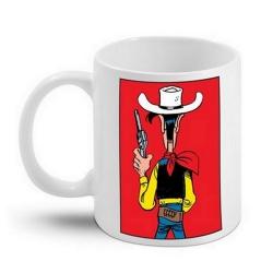 Taza mug en cerámica Lucky Luke (Listo para disparar)