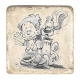 Collectible marble signs Billy & Buddy Walking (10x10cm)