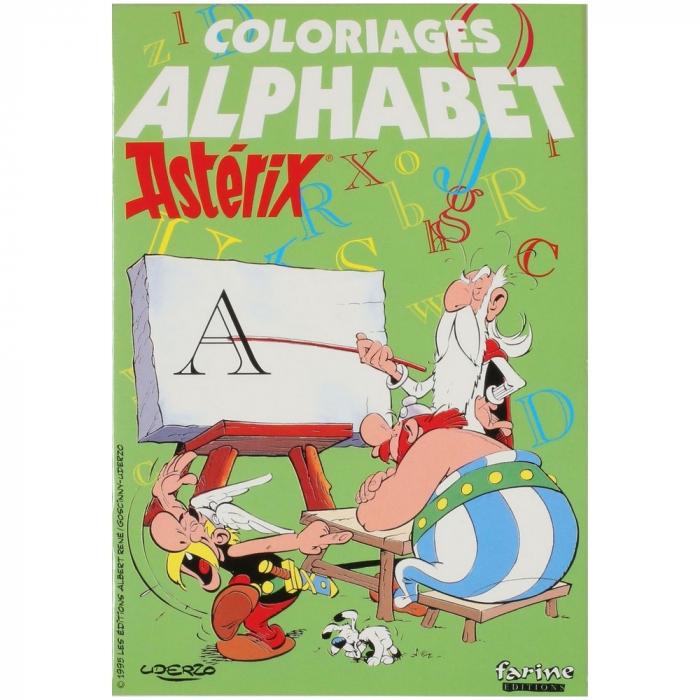 Livre de coloriage Astérix L'Alphabet (grand format)