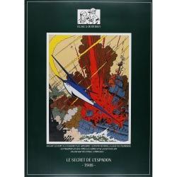 Poster affiche offset Blake et Mortimer, Le Secret de l'Espadon 1946 (35x49cm)