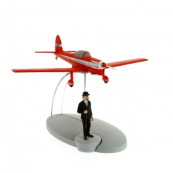 Figurine de collection Tintin L'avion rouge L'île noire Nº8 29528 (2014)