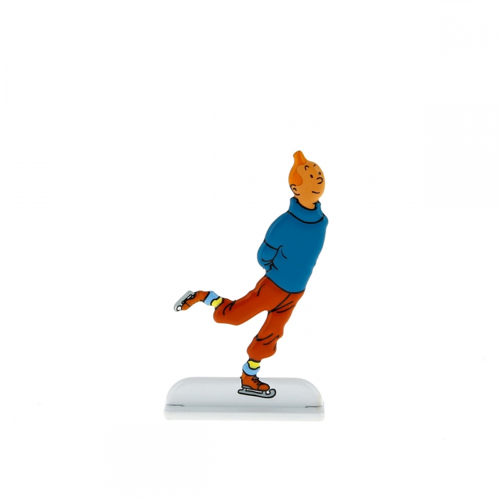The Tintin Lunar Rocket with three relief figurines Collectible Pack