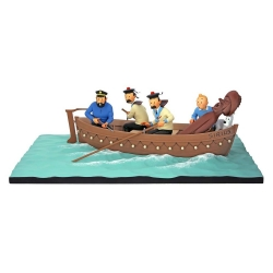 Collectible figure Moulinsart Fariboles Tintin in the Sirius Jolly Boat (2018)
