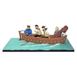 Figurine Moulinsart Fariboles Tintin dans la chaloupe du Sirius 44022 (2018)