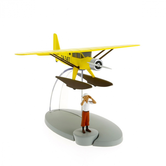 Figurine de collection Tintin L'hydravion jaune 29521 (2014)