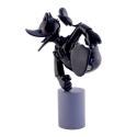 Figura de colección Leblon-Delienne Disney Pato Donald Duck excitado (Cromado)
