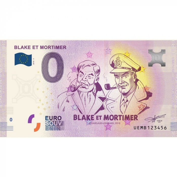 Bank note 0 Euro Souvenir Blake and Mortimer (2018)
