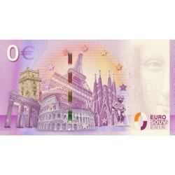 Bank note 0 Euro Souvenir Spirou and Fantasio with Spip, Marsupilami (2018)