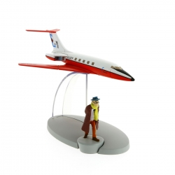 Figurine de collection Tintin L'avion Jet Carreidas 160 Vol 714 Nº2 29522 (2014)