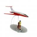 Figura de colección Tintín El avión Jet Carreidas 160 Vuelo 714 Nº2 29522 (2014)