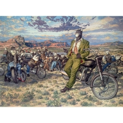 Poster affiche offset Blacksad Juanjo Guarnido, Amarillo's Road (80x60cm)