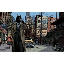 Poster affiche offset Blacksad Juanjo Guarnido, New York (100x70cm)
