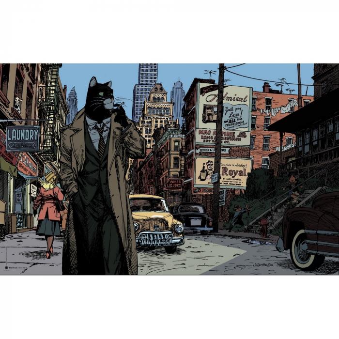 Póster cartel offset Blacksad Juanjo Guarnido, Nueva York (100x70cm)