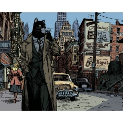 Poster affiche offset Blacksad Juanjo Guarnido, New York (24x18cm)