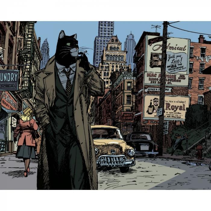Póster cartel offset Blacksad Juanjo Guarnido, Nueva York (24x18cm)