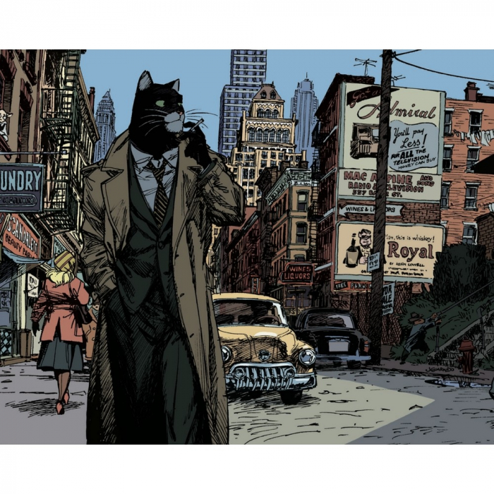 Poster offset Blacksad Juanjo Guarnido, New York City (24x18cm)
