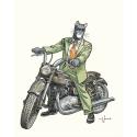 Póster cartel offset Blacksad Juanjo Guarnido, John en su moto Triumph (40x50cm)