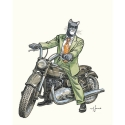 Poster offset Blacksad Juanjo Guarnido, John on Triumph motorcycle (40x50cm)