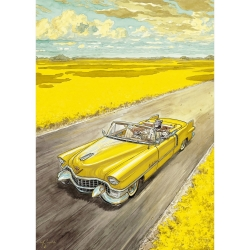 Póster cartel offset Blacksad Juanjo Guarnido, Amarillo (50x70cm)