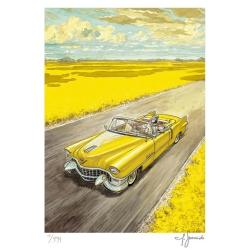Poster affiche offset Blacksad Juanjo Guarnido, Amarillo signée (50x70cm)