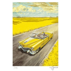 Poster offset Blacksad Juanjo Guarnido, Amarillo signed (50x70cm)