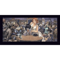 Poster affiche offset Blacksad Juanjo Guarnido, John's Blues (100x50cm)