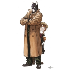 Póster cartel offset Blacksad Juanjo Guarnido, John y Weekly (50x100cm)