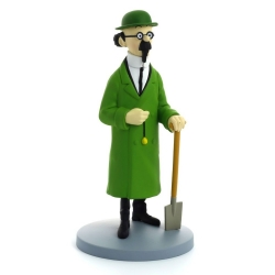 Figurine de collection Tintin Tournesol avec bêche Moulinsart 42224 (2018)