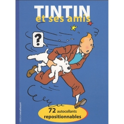 Hergé, éditions Moulinsart 72 autocollants Tintin et ses amis 24377 (2018)