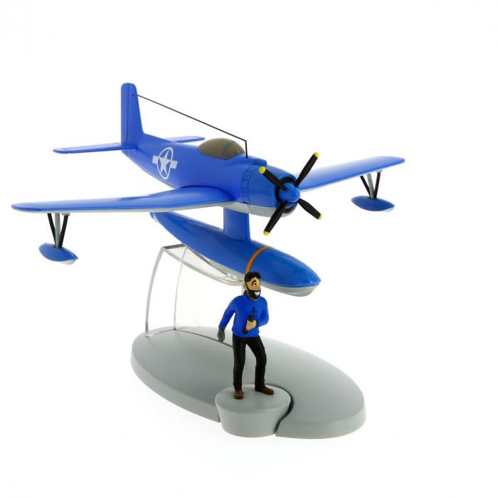 Figurine de collection Tintin L'hydravion bleu Coke en stock 29524 (2014)