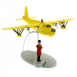 Tintin Figure collection Yellow seaplane Seven Crystal Balls Nº5 29525 (2014)