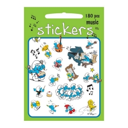 Board of 180 stickers Barbo Toys The Smurfs (Music)