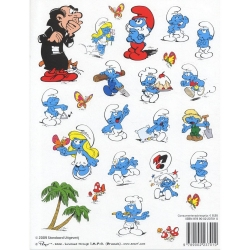 Board of 24  stickers Barbo Toys The Smurfs