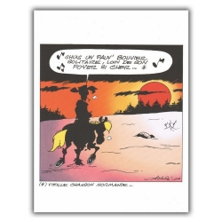 Ex-libris Offset de Lucky Luke: Poor Lonesome Cowboy (23x30cm)