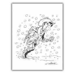 Ex-libris Offset de Lucky Luke: Neige (23x30cm)