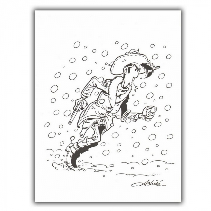 Ex-libris Offset de Lucky Luke: Nieve (23x30cm)