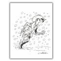 Ex-libris Offset of Lucky Luke: Snow (23x30cm)