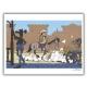 Ex-libris Offset of Lucky Luke: Calque Rantanplan (30x23cm)