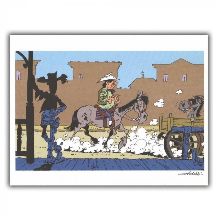 Ex-libris Offset de Lucky Luke: Calque Rantanplan (30x23cm)