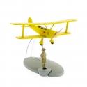 Figurine de collection Tintin L'avion biplan jaune Tintin Congo Nº6 29526 (2014)