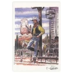 Ex-libris Offset de Lucky Luke: Girod, hommage à Lucky Luke (14,5x21cm)