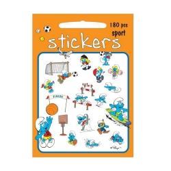 Planche de 180 stickers autocollants Les Schtroumpfs (Sports)