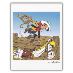 Ex-libris Offset de Lucky Luke: El rodeo (23x30cm)