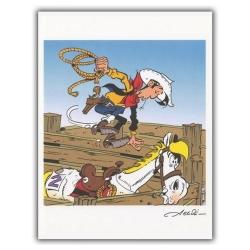 Ex-libris Offset de Lucky Luke: Le rodéo (23x30cm)