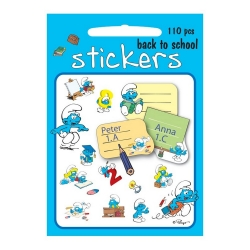 Board of 180 stickers Barbo Toys The Smurfs (Back to School)