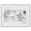 Ex-libris Offset de Lucky Luke: Calco Rantanplan (30x23cm)